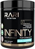 RARI Nutrition - Infinity Pre Workout Powder - Natural Preworkout Supplement for Men and Women - Keto and Vegan Friendly - No Creatine - 30 Servings - (Blue Raspberry)