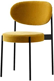 Amrai-Sillas de Comedor Modernas Silla para Invitados, Sillas de salón tapizadas (4 Colores), Sillas de Cocina con Asiento de Terciopelo Redondo ensanchado y Patas de Metal (Altura 81 cm)
