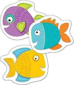 Carson Dellosa – Fish Mini Colorful Cut-Outs Classroom Décor 36 Pieces