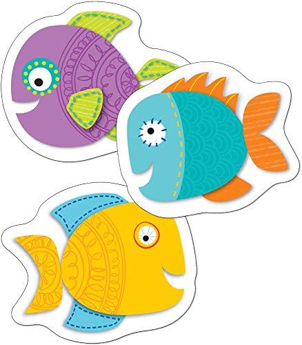 Carson Dellosa – Fish Mini Colorful Cut-Outs, Classroom Décor, 36 Pieces