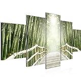 032452b - Cuadro de pared (100 x 50 cm, fieltro), diseño de puente en el bosque