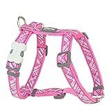 Red Dingo Flanno Design Pettorina per cani, 20 mm x 36-59 cm, rosa acceso