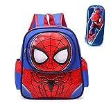 PDVCB Durable Mochila de Dibujos Animados de Spiderman Spiderman para niños de 3 a 6 años Mochila para niños para niños y niñas Mochila Ligera Regalo de niño (Color : Blue)