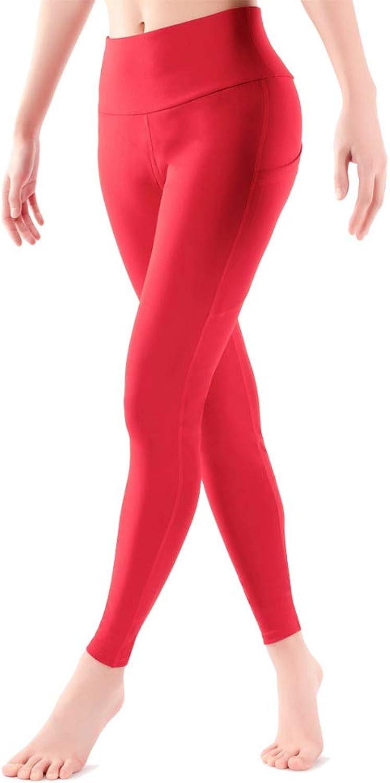 Bulouin Workout Yoga Leggings for Women High Waist Ankle Length Yoga Pants Tummy Control Red