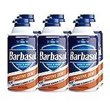 Barbasol Sensitive Skin Thick and Rich Shaving Cream for Men, 10 oz., Pack of 6