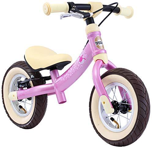 BIKESTAR Mitwachsendes Kinder Laufrad Lauflernrad Kinderrad für Mädchen ab 2 - 3 Jahre | 10 Zoll Sport Flex Kinderlaufrad | Pink | Risikofrei Testen