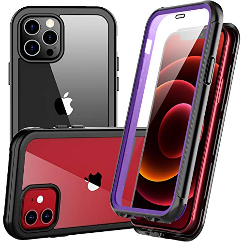 Redpepper Slim Case for iPhone 12 Pro Case.for iPhone 12 Case, Shockproof Built-in Screen Protector Clear Full Body Heavy Duty Rugged Case for iPhone 12,for iPhone 12 Pro 6.1