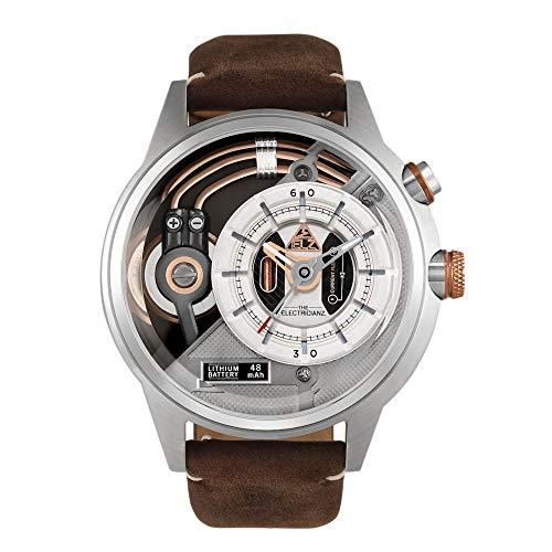 The Electricianz Steel Z - Reloj de diseño para hombre, esfera con...