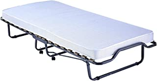 PROHEIM Cama para Invitados Plegable Premium 90 x 200 cm con colchón incluído - Cama Plegable con armazón de Metal Estable y Ruedas (hasta 100 kg Resistente)