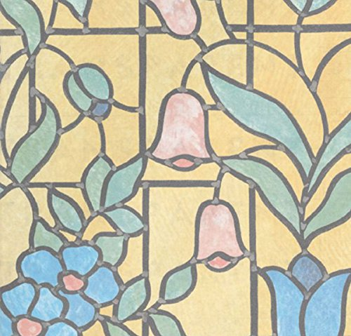 Bunte Fensterfolie Nizza Adhesive - Klebefilm Bleiglas Look 0,45 m x 2 m bunt
