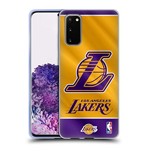 Head Case Designs Oficial NBA Estandarte 2019/20 Los Angeles Lakers Carcasa de Gel de Silicona Compatible con Samsung Galaxy S20 / S20 5G