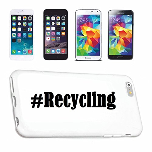 Reifen-Markt Handyhülle kompatibel mit Sony Xperia Z3 Hashtag #Recycling im Social Network Design Hardcase Schutzhülle Handy Cover Smart Cover