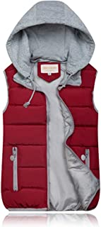 Women's Quilted Vest Winter Vest Warm Quilted Vest Padded Vest Sleeveless Jacket Hooded Autumn Hooded Jacket