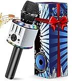 Micrófono Karaoke Inalámbrico, Micrófono Karaoke Bluetooth Portátil con...