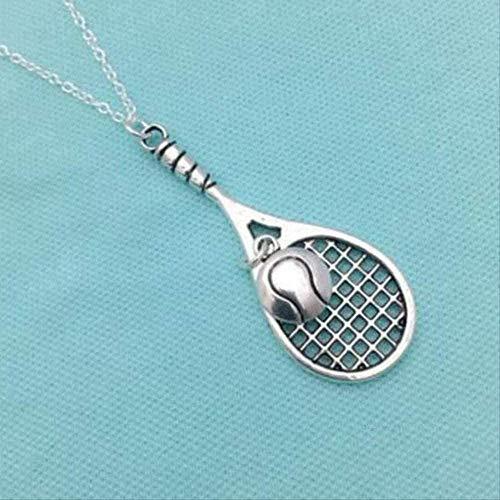 niuziyanfa Co.,ltd Collar Raqueta de Tenis Bola Collares Colgantes Colgantes Collares Cadena de Tenis GargantillaCollares para Mujer Joyería Regalo de la Amistad