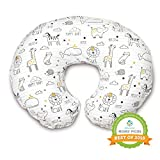 Boppy Original Nursing Pillow and Positioner, Notebook Black and Gold, Cotton Blend Fabric with allover...