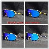 KAPVOE Gafas Ciclismo 5 Lentes Intercambiables para Mujeres de los Hombres UV400 Gafas de Sol polarizadas Gafas TR90 (10)