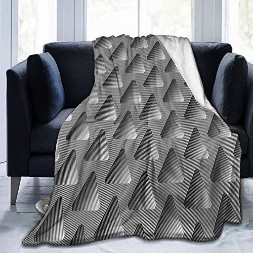 KOSALAER Bedding Manta,Triángulos futuristas,Mantas cálidas de Sala de Estar/Dormitorio Ultra Suaves para Todas Las Estaciones