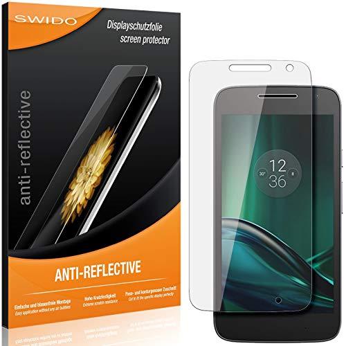 SWIDO Schutzfolie für Motorola Moto G4 Play [2 Stück] Anti-Reflex MATT Entspiegelnd, Hoher Festigkeitgrad, Schutz vor Kratzer/Folie, Bildschirmschutz, Bildschirmschutzfolie, Panzerglas-Folie