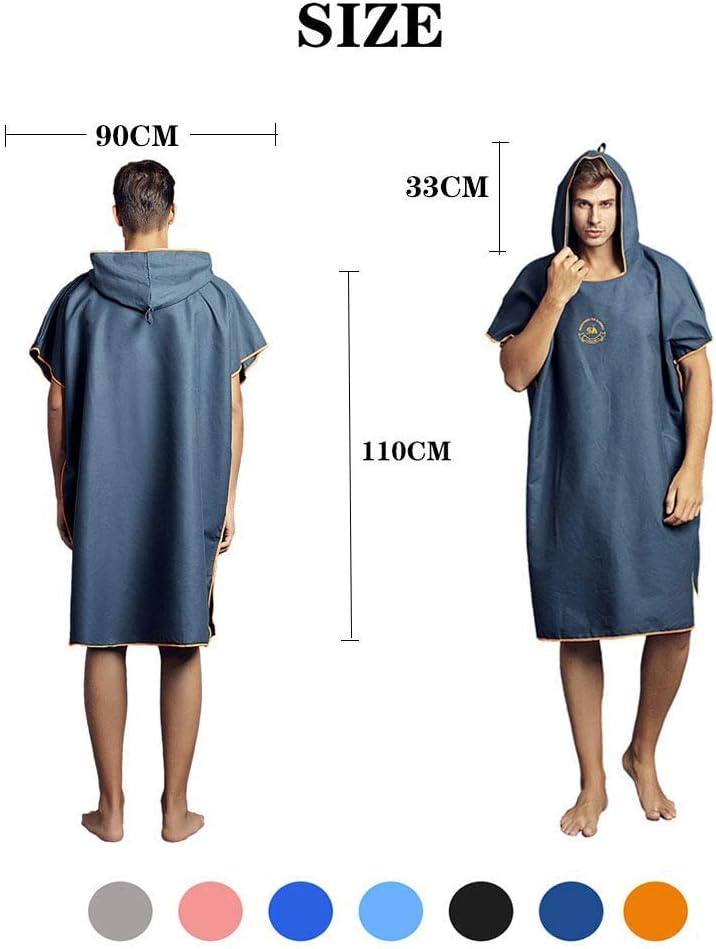 Poncho de toalla con capucha para cambiar de traje de neopreno talla /única compacto y ligero Hiturbo