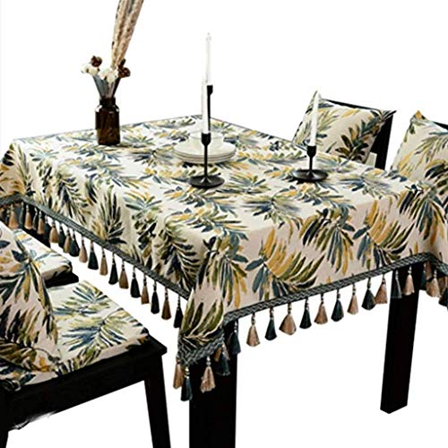 Kunyi Pequeño fresco brillante Modern American hermosa planta multi-uso nunca se descolora rectangular sala de mesa de café de tela del paño estera de tabla Mantel (Size : 130x220cm)