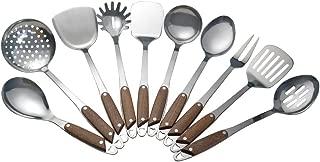 Vababa Stainless Steel Kitchen Cooking Utensils, 10-Piece Gadgets Cookware Set