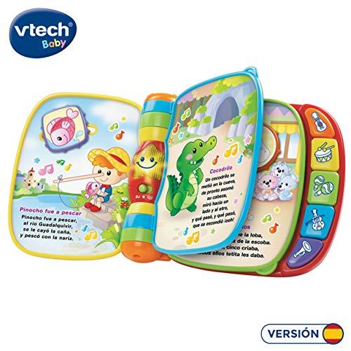 VTech- Primeras Canciones Libro Musical Interactivo, Multicolor, Talla Única (80-166722)