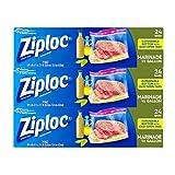 Ziploc All Purpose Marinade Bags, 3 Pack, 24 ct