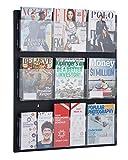AdirOffice Hanging Magazine Rack with Clear Acrylic Adjustable Pockets, 29'x35'