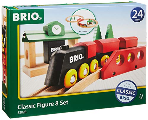 BRIO World 33028 - Classic Figure 8 Set - 22 Piece Wood Toy Train Set with Accessories and Wooden...