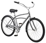 Schwinn Huron Adult Beach Cruiser Bike, Featuring 17-Inch/Medium Steel Step-Over Frames, 3-Speed Drivetrains, Grey
