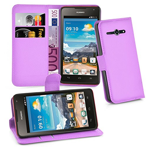 Cadorabo Book Case Works with Huawei Ascend Y530 in Pastel Purple - with Magnetic Closure, Stand Function and Card Slot - Wallet Etui Cover Pouch PU Leather Flip