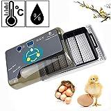 Hisunny Incubadora Huevos Volteo y eclosin automticos Incubadora Manual Material de PVC + PP para Huevos del Pato, Huevos de Pavo 12 Huevos