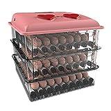 AQAWAS Incubatrice per Uova, covatrice Macchina Controllo della Temperatura e dell'umidità, Facile da osservare Portatile, per Gallina/Anatra/Quaglia,Pink_150 Eggs