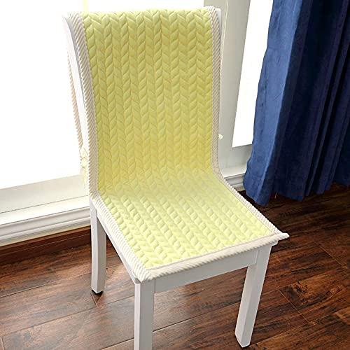 DIELUNY Cojín de banco de color sólido, antideslizante para patio, cojines largos para silla mecedora de sofá, bahía, ventanas, alimentos, interior y exterior, color amarillo, 40 x 130 cm
