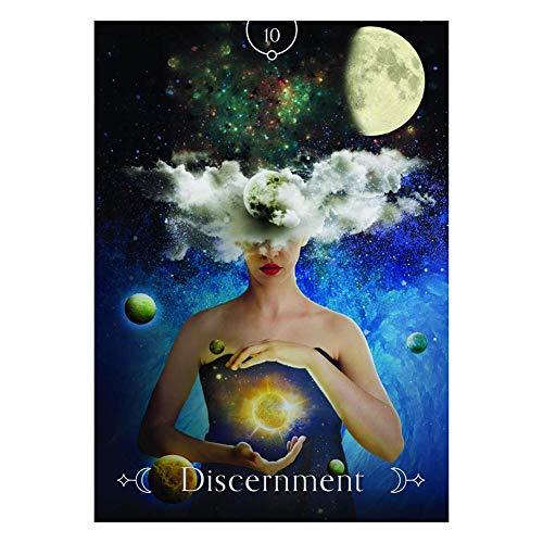 humflour Spielkarten - Tarot Karten, 44PCS Königin des Mondes Oracle-Karten Dauerhafte Lustige Tarot-Spielkarten Für Den Heimgebrauch