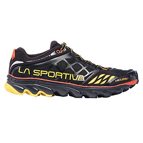 La Sportiva Helios SR Minimalist Herren Racing Trail Laufschuh, Schwarz (schwarz / gelb), 44.5 EU