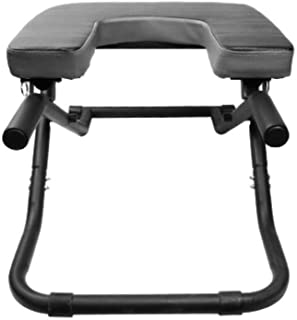 KJRJDL Yoga Chair Inverted Table Home Foldable Standing Yoga Chair for The House Gym to Build The Body Ideal Chair Inverted Bench 77.5 * 48.5 * 38.5cm (Color : Black)