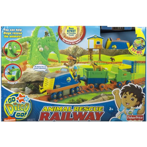 Fisher-Price Go Diego Go Animal Rescue Railway Track System by Dora the Explorer