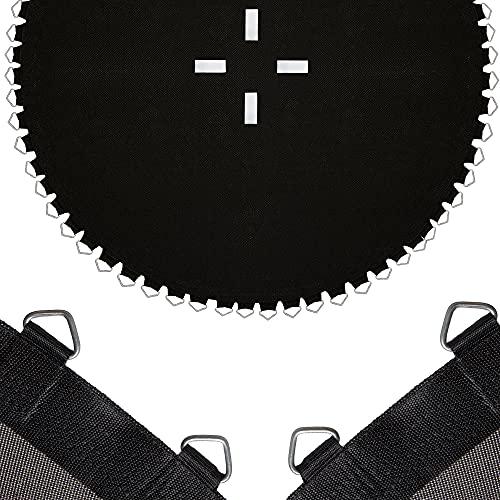 SPRINGOS Tapis de saut avec 64 œillets - Tapis de saut pour trampoline avec un diamètre de 305 cm - Résistant aux UV - Accessoires (Noir 305 cm - 64 œillets)