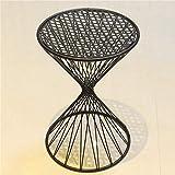 NYDZDM - Taburete de mesa y silla Makeup - Taburete de tocador de hierro forjado Fashion Home Hollow - Taburete de hierro forjado (color: negro mate, tamaño: 30 x 30 x 45 cm)