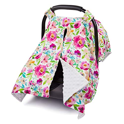 ICOSY Carseat Canopy Cover Baby Soft Nursing Cover Newborn Breastfeeding Cover Cotton Baby Nursing Cover for Breastfeeding Moms