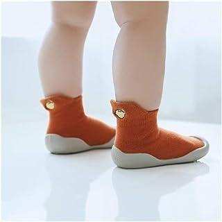LiuQ, Bebé Calcetines Niño del bebé de punto del leopardo de suelo Calcetines Calzado con suelas de goma infantil antideslizante calcetines recién nacido interior Primavera Verano Otoño