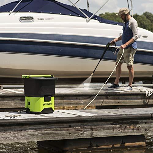 Greenworks 40V Cordless Pressure Washer 4Ah USB Battery Included PWF301