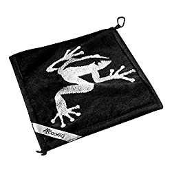 cheap Frogger Golf Amphibian Wet / Dry Golf Towel, Black / Gray