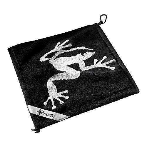 Frogger Golf Amphibian Golf-Handtuch, nass / trocken, Schwarz/Grau