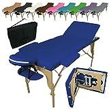 Vivezen Table de massage pliante 3 zones en bois avec panneau Reiki + Accessoires et housse de transport - 10 coloris -...