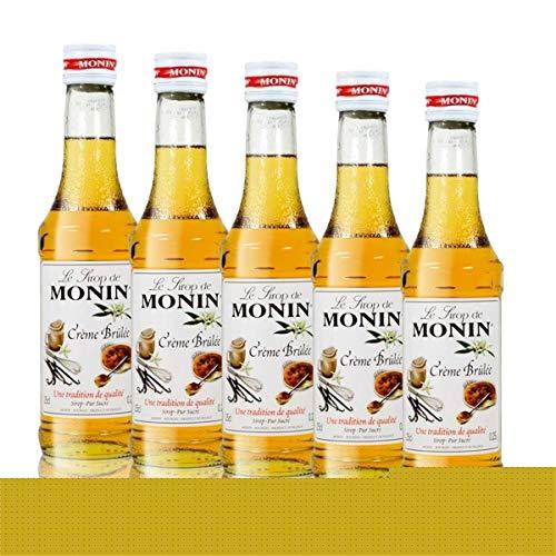 5x Monin Créme Brûlée Sirup, 250 ml Flasche - für Cocktails, zum Kaffee oder Kochen