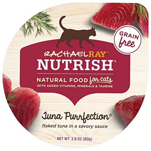 Rachael Ray Nutrish Natural Wet Cat Food, Tuna Purrfection Recipe, 2.8 Ounce Cup (Pack of 24), Grain Free