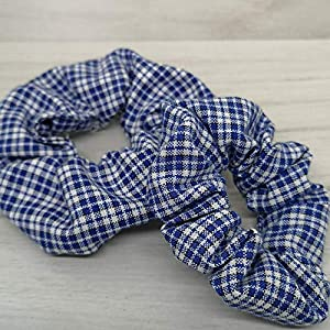 ALSTERschmuck Haargummi scrunchie – blaukariert